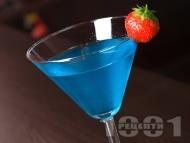 Коктейл руска нощ - Rusian Night с мастика и синьо кюрасо